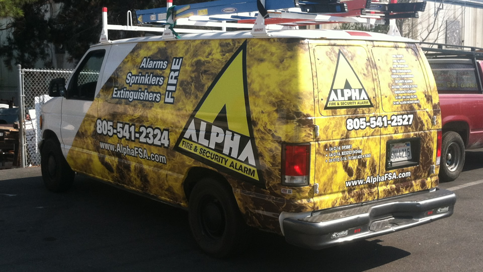 Partial Van Vehicle Wrap for Alpha Fire