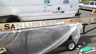 Boat Lettering for Cal Poly Concrete Canoe