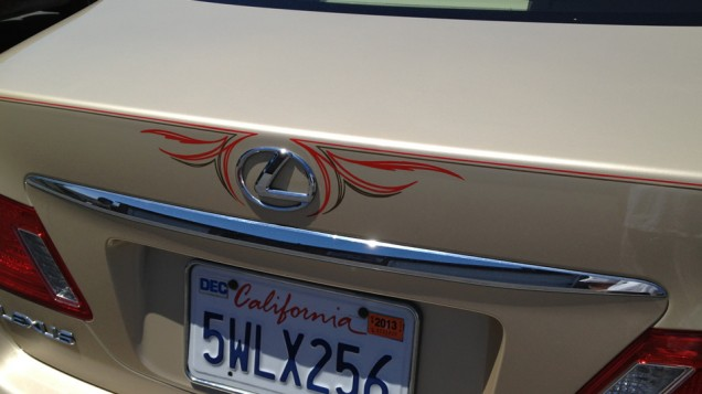 Lexus Car Pinstriping