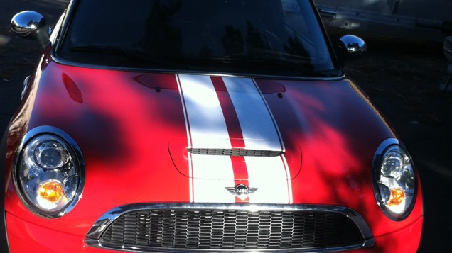 Mini Cooper Racing Stripes