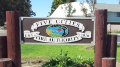 Sandblasted Sign for Five Cities Fire Authority