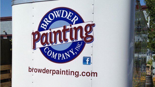Trailer Lettering for Browder Painting