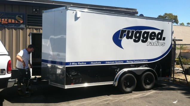 Trailer Vehicle Graphics for Rugged Radios