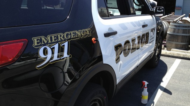 Vehicle Lettering for SLO Police Department
