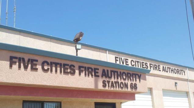 On Premise Building Signs for Five Cities Fire