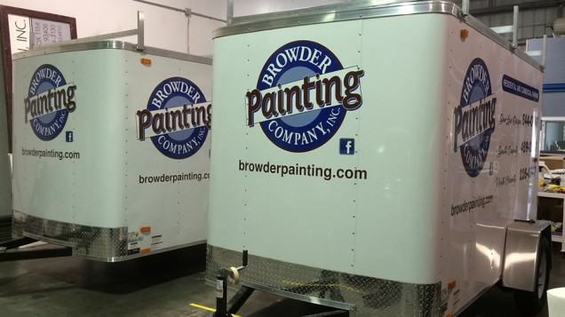 Trailer Lettering on two trailers for Browder Painting