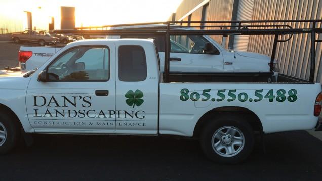 Vehicle Lettering for Dan's Landscaping