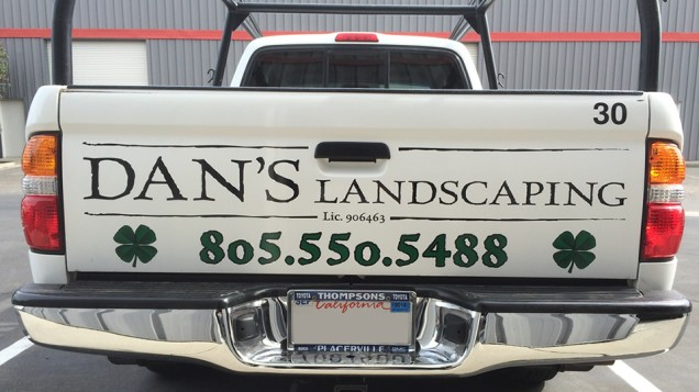 Vehicle Lettering for Dan's Landscaping