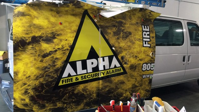 2014 Partial Vehicle Wraps for Alpha Fire