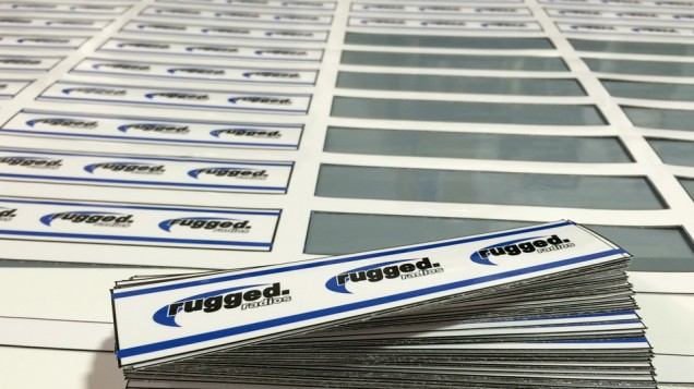 Die Cut Stickers for Rugged Radios