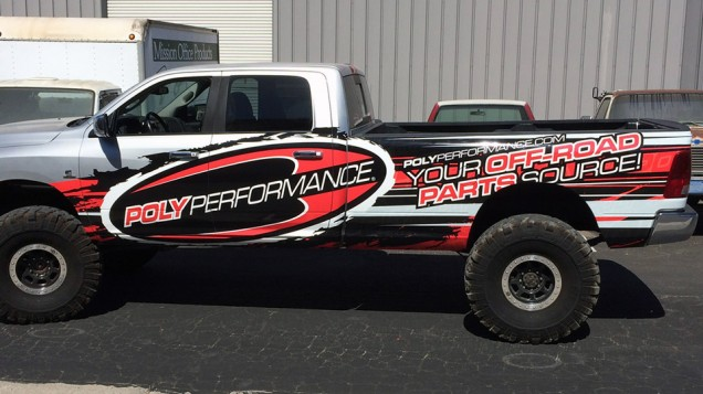 Partial Truck Wrap for Poly Performance
