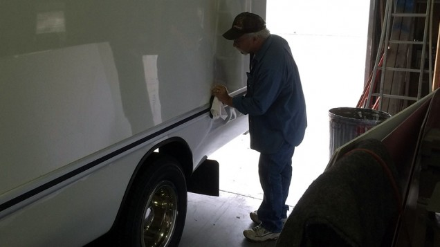 Cleaning Box Truck for Vehicle Wrap
