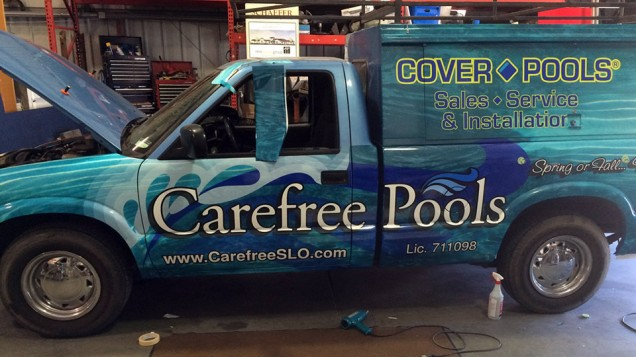 Partial Vehicle Wrap for Carefree Pools