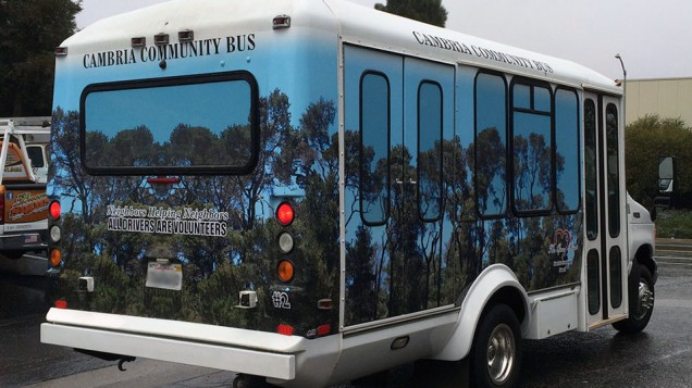 Cambria Community Bus Vehicle Wrap