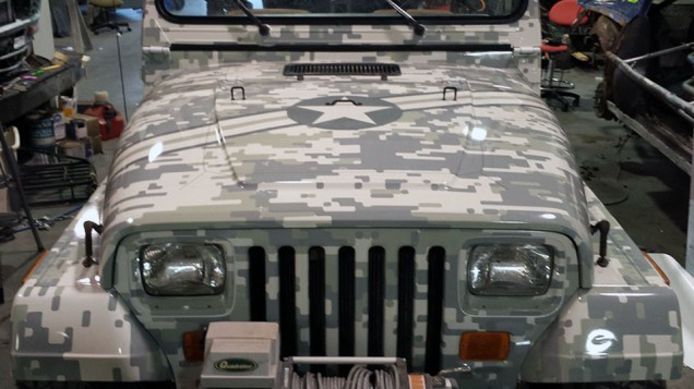 Digital Camo Jeep Vehicle Wrap