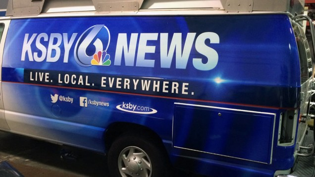 KSBY Van Wrap Driver Side Done