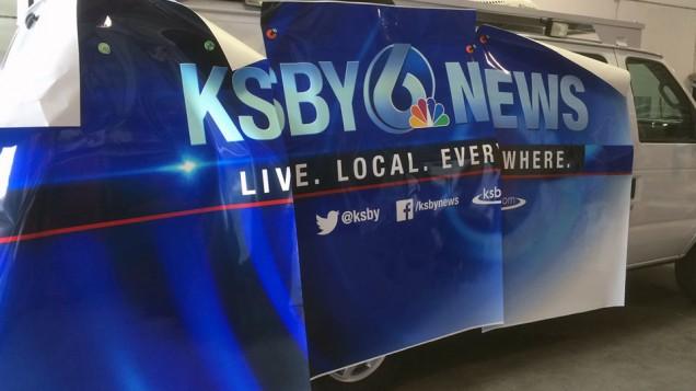 KSBY Van Wrap Passenger Side Panels