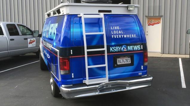 KSBY Van Wrap Completed