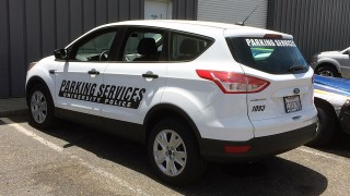 Reflective Vehicle Lettering for Cal Poly
