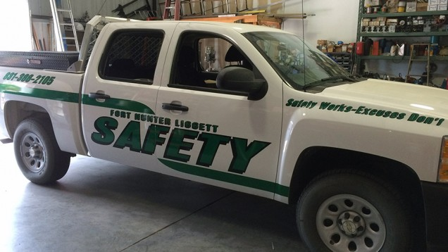 Fleet Reflective Vehicle Lettering for Fort Hunter Liggett
