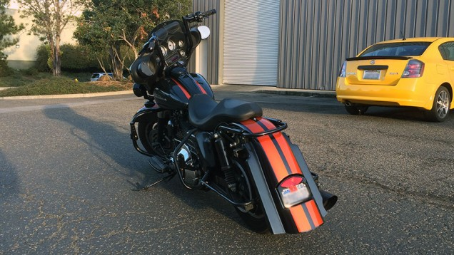 Harley Davidson Metallic Orange Racing Stripes