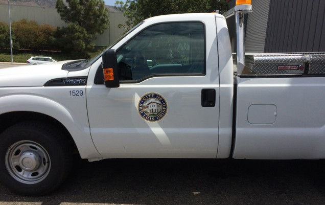 Fleet Vehicle Lettering for City of SLO
