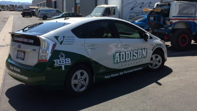 Addison Car Wrap and Lettering