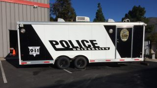 Cal Poly Police Trailer Wrap