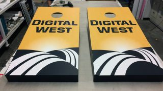 Cornhole Game Wrap for Digital West