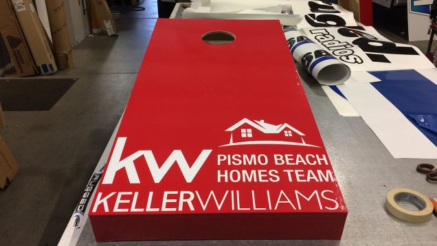 Cornhole Game Wrap for Keller Williams