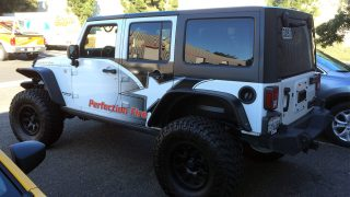 Jeep Wrangler Partial Vehicle Wrap