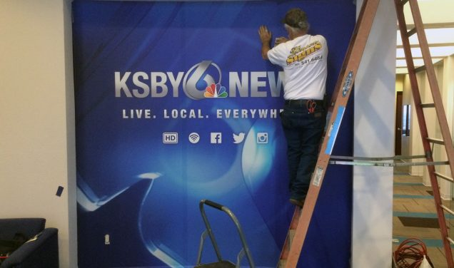 KSBY Lobby Wall Graphics