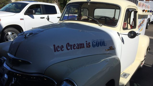 Ice Cream Truck Vehicle Graphics, Lettering, and Hand Painted