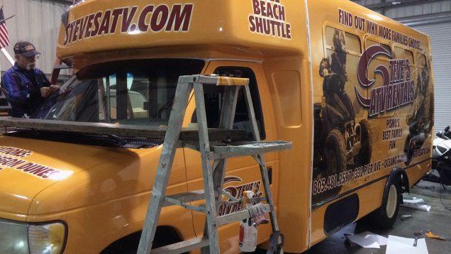 Short Bus Vehicle Wrap for Steve's ATV Rentals
