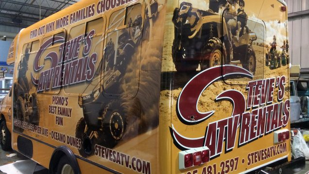Short Bus Vehicle Wrap for Steve's ATV Rentals