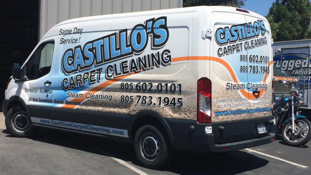 Castillos Carpet Cleaning Partial Wrap
