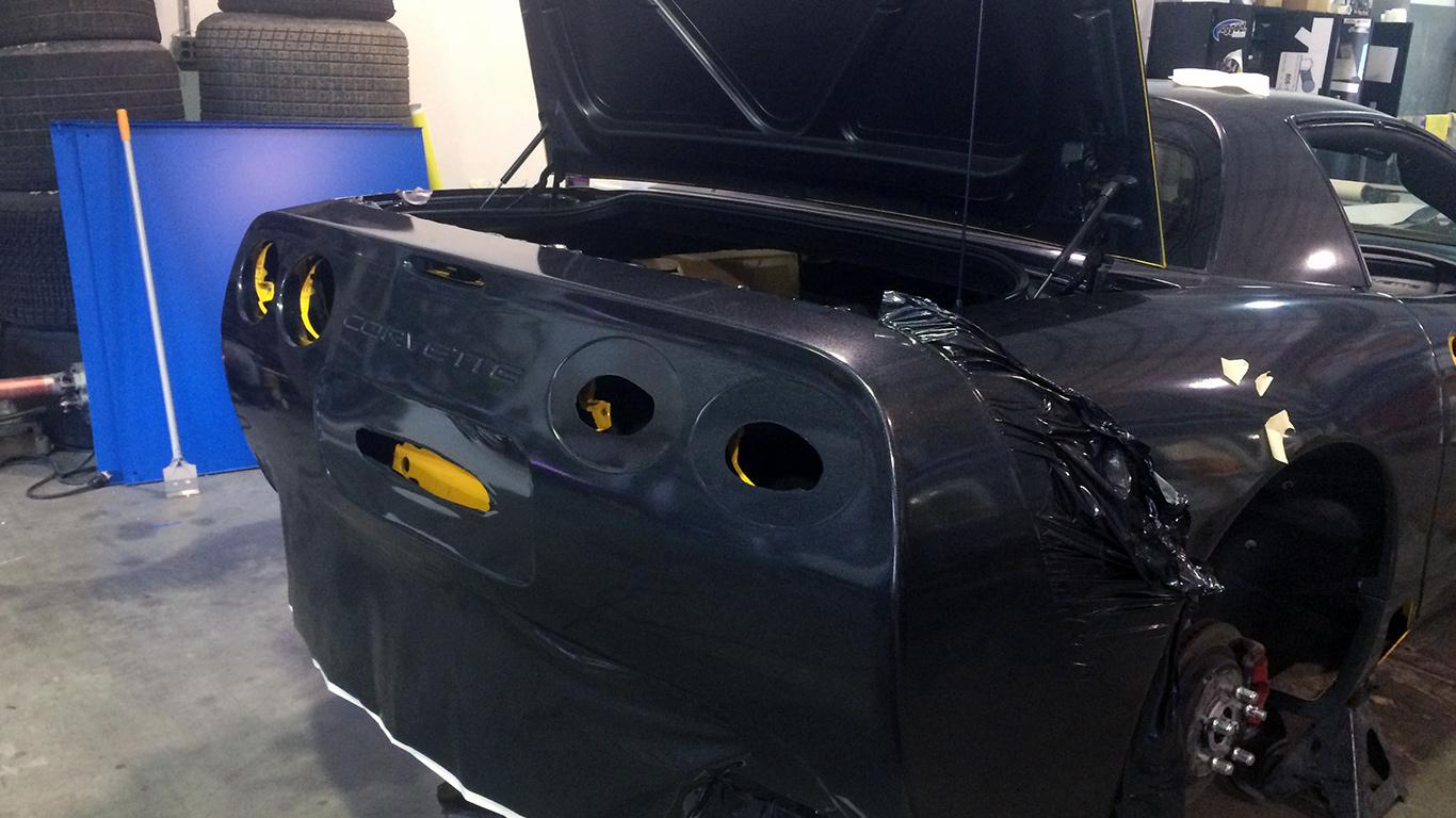 d00a83493e Corvette Metallic Flame Full Vehicle Wrap