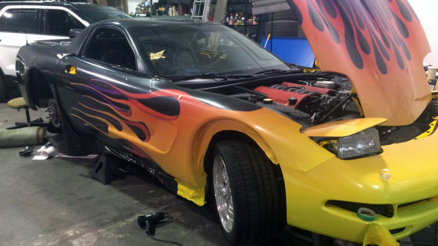 Corvette Metallic Flame Full Vehicle Wrap