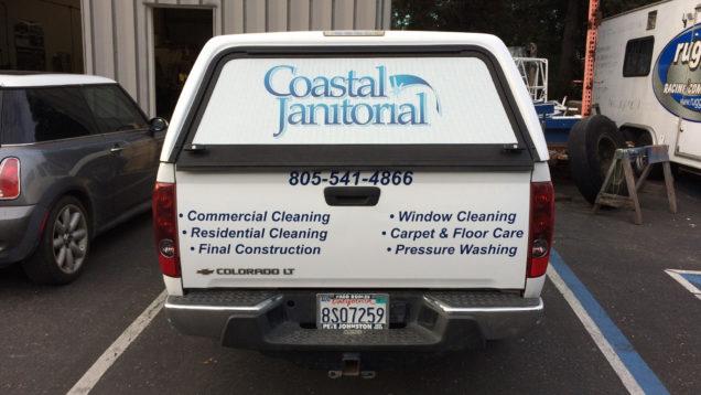 Coastal Janitorial Fleet Lettering