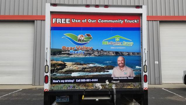 Bear Valley Realty Box Truck Wrap