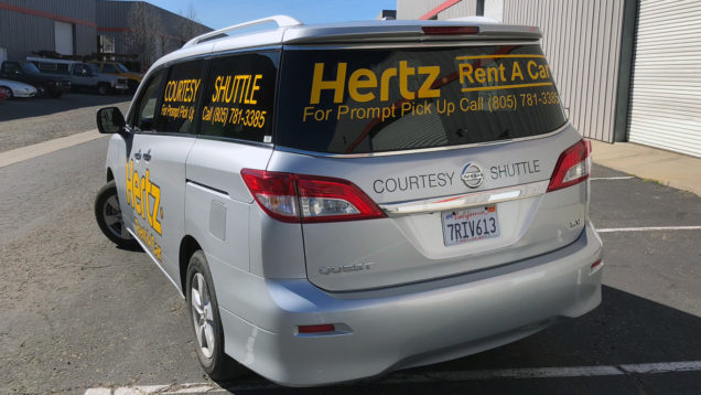 Hertz Car Rental Vehicle Lettering