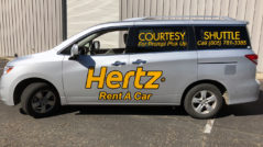Hertz Car Rental Vehicle Lettering
