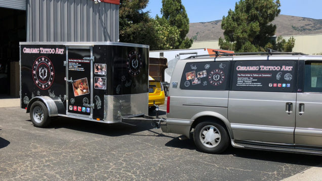 Trailer Wrap for Ceramic Tattoo Art