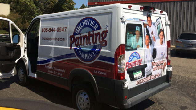 Browder Painting Partial Van Wrap