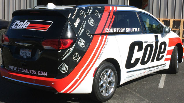 Cole Courtesy Shuttle Van Wrap