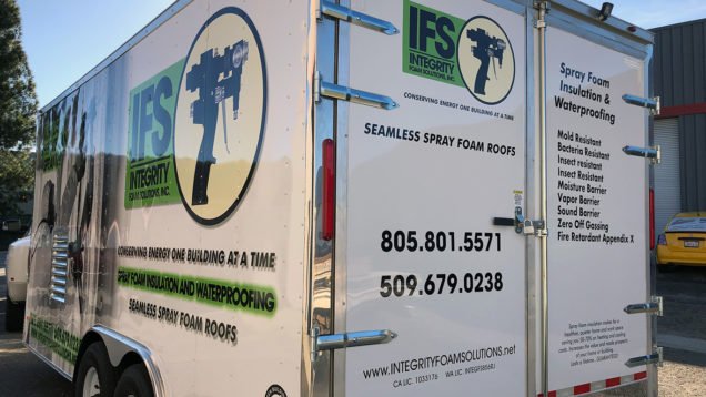 Integrity Foam Solutions Trailer Wraps