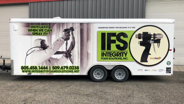Integrity Foam Solutions Trailer Wraps