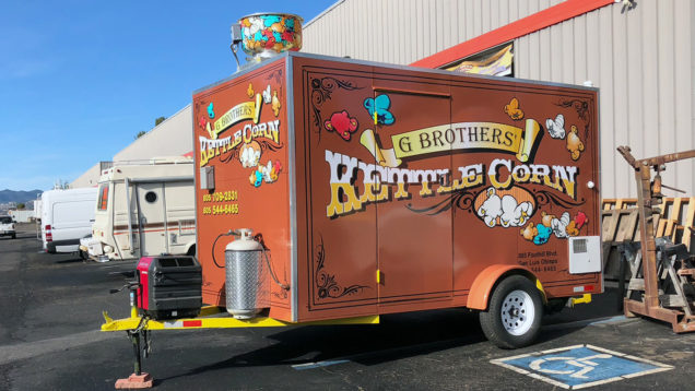 Kettle Corn Trailer Wrap
