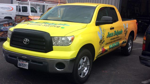 Vehicle Wrap for Juan Delgado