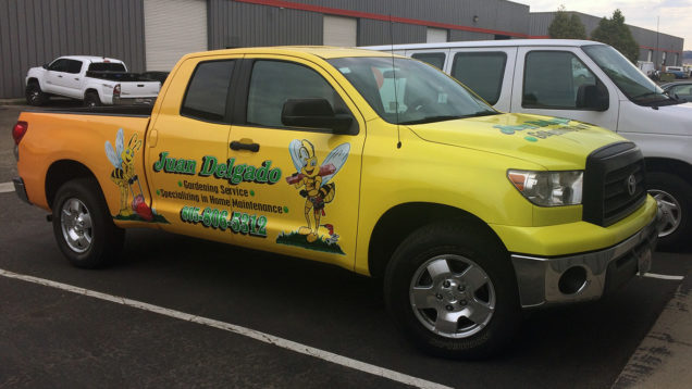 Vehicle Wrap for Juan Delgado